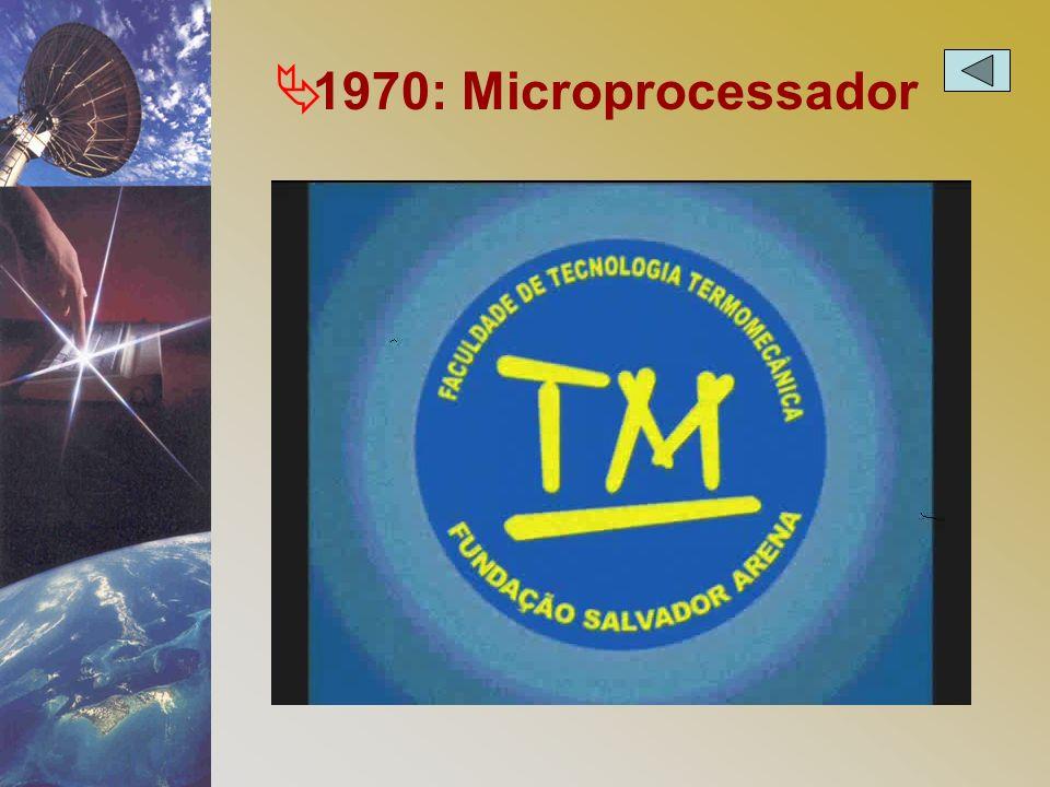 Ä 1970: Microprocessador