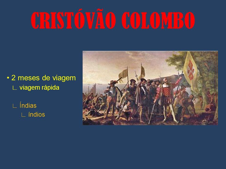 2 meses de viagem viagem rápida Índias índios CRISTÓVÃO COLOMBO