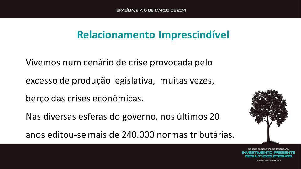 Vivemos num cenário de crise provocada pelo excesso de produção legislativa, muitas vezes, berço das crises econômicas. Nas diversas esferas do govern