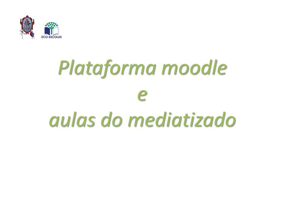 Plataforma moodle e aulas do mediatizado