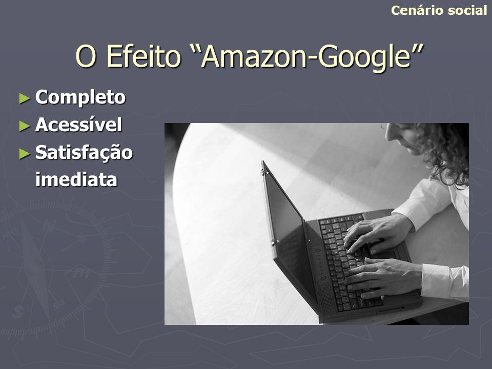 O Efeito Amazon-Google Completo Completo Acessível Acessível Satisfação Satisfaçãoimediata Cenário social