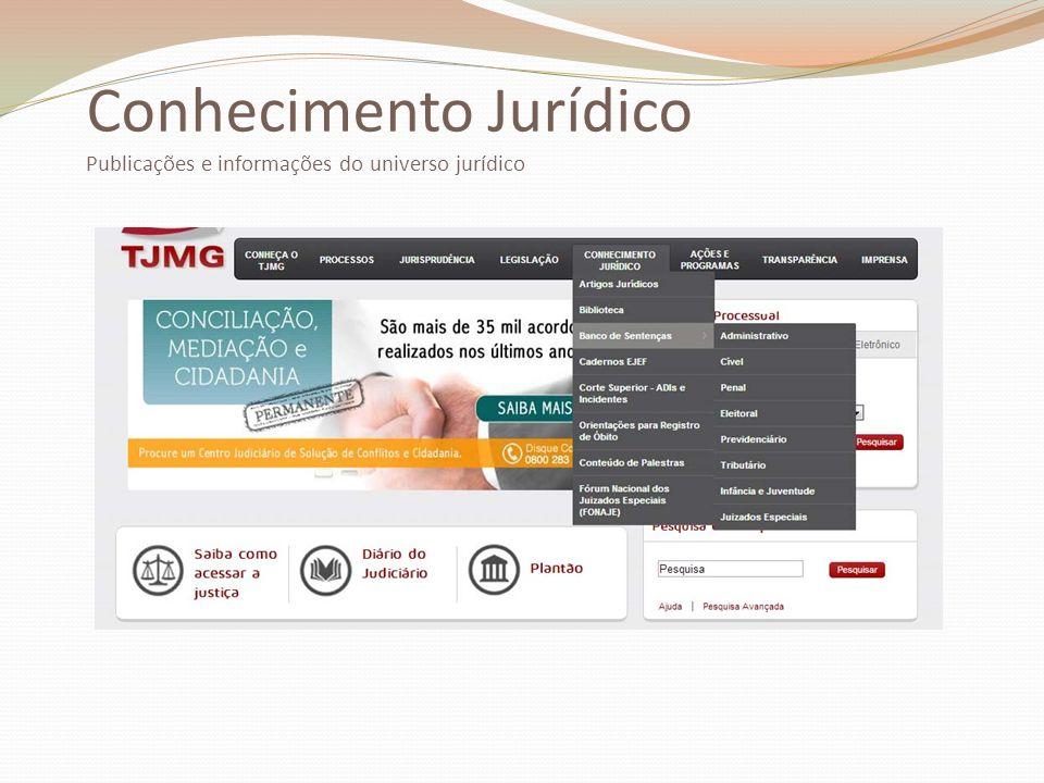 Conhecimento Jurídico Publicações e informações do universo jurídico