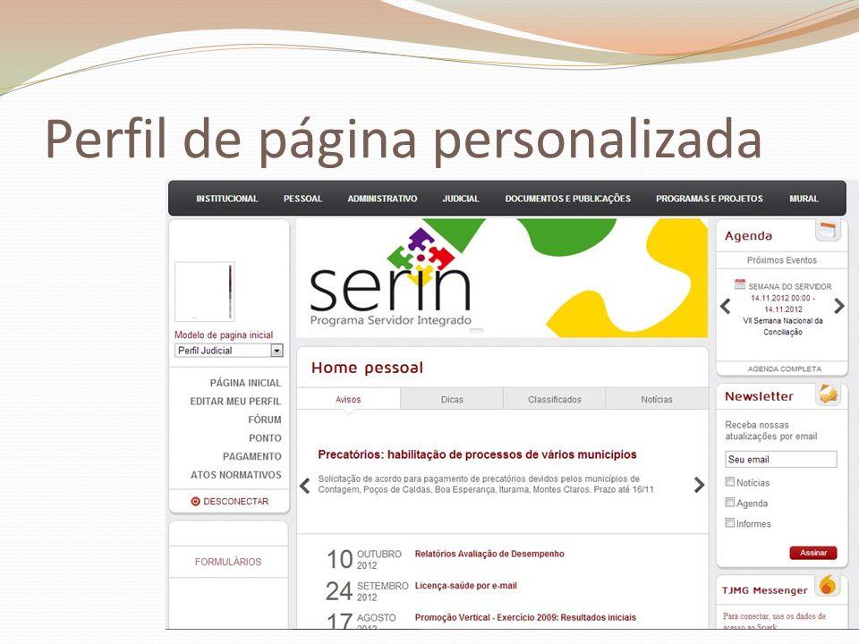 Perfil de página personalizada
