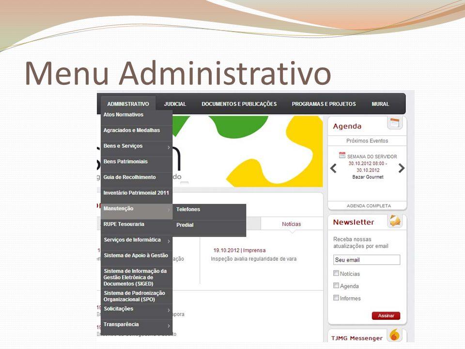 Menu Administrativo