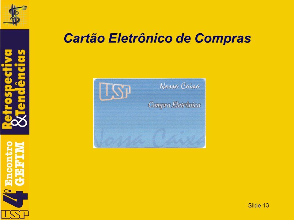 Slide 13 Cartão Eletrônico de Compras