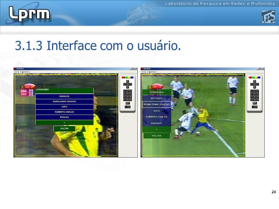 24 3.1.3 Interface com o usuário.