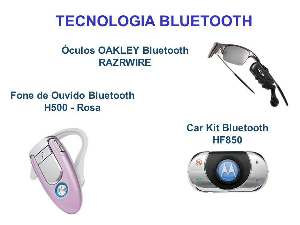 Fone de Ouvido Bluetooth H500 - Rosa Car Kit Bluetooth HF850 Óculos OAKLEY Bluetooth RAZRWIRE TECNOLOGIA BLUETOOTH