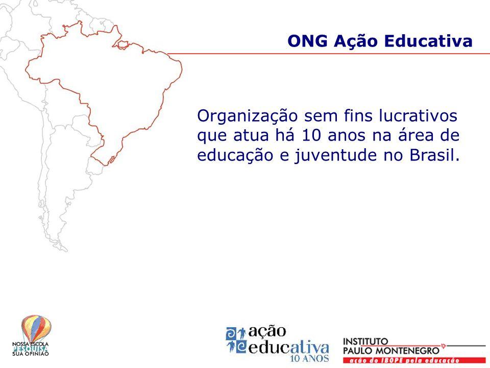 Organização sem fins lucrativos que atua há 10 anos na área de educação e juventude no Brasil. ONG Ação Educativa