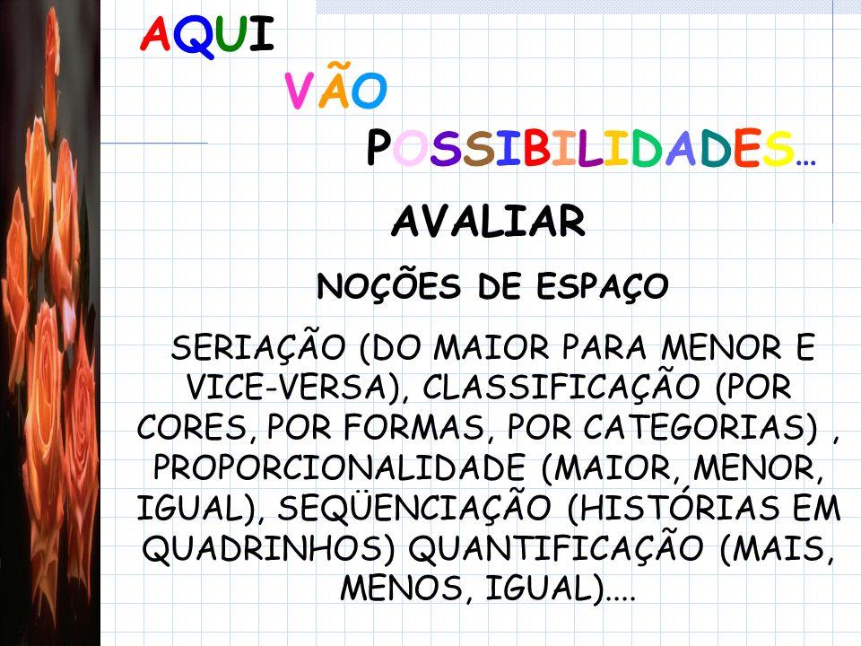 AQUI VÃO POSSIBILIDADES...