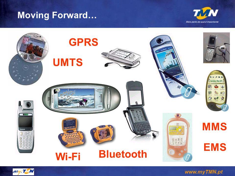 www.myTMN.pt Moving Forward… MMS EMS Wi-Fi Bluetooth UMTS GPRS