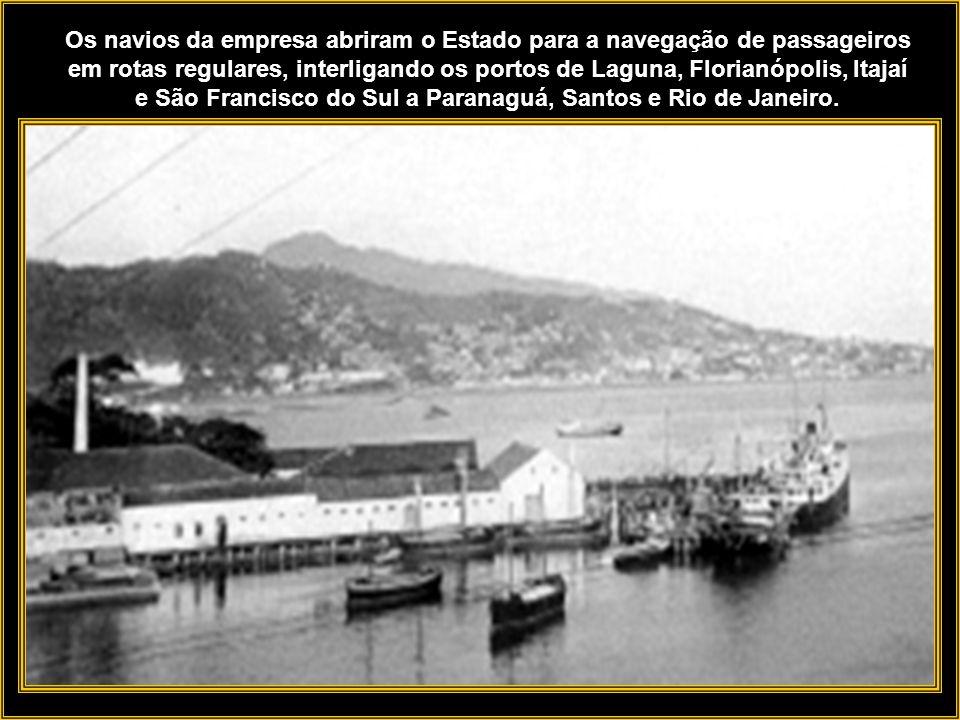 A malha ferroviária e rodoviária na época era deficitária, a navegação de cabotagem, com seu transporte de carga a granel, feita pelos navios da empre