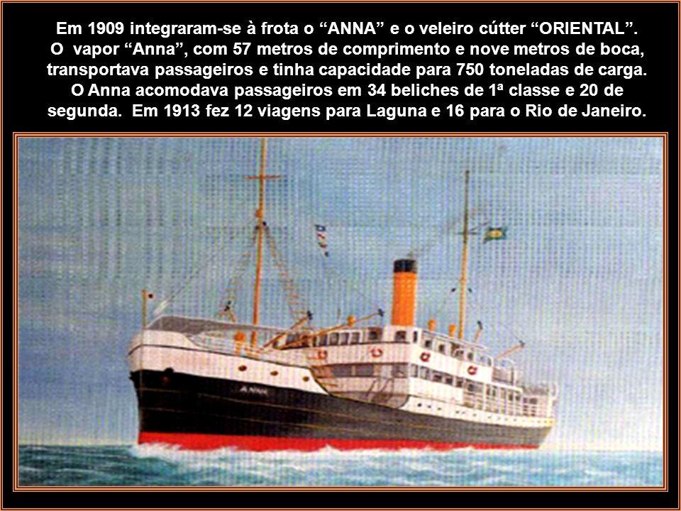 Foto: Instituto Carl Hoepcke O navio MAX adquirido na Alemanha em 1897, foi o primeiro navio da empresa, servia principalmente a linha Florianópolis L