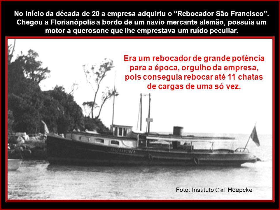 Em 1909 integraram-se à frota o ANNA e o veleiro cútter ORIENTAL. O vapor Anna, com 57 metros de comprimento e nove metros de boca, transportava passa