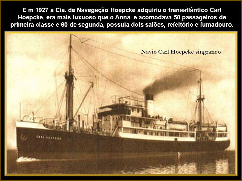 A empresa já contava com embarcações auxiliares para carga e descarga as Chatas de Carga mas em 1912 adquiriu mais dois Lanchões para baldeação de mer