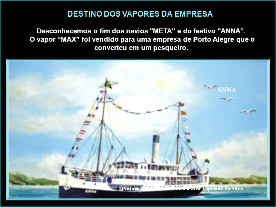Fonte: Instituto Carl Hoepcke Na foto vemos os navios – Carl Hoepcke, Anna e Max, o rebocador São Francisco e Chatas de Carga QUAL SEU DESTINO ?