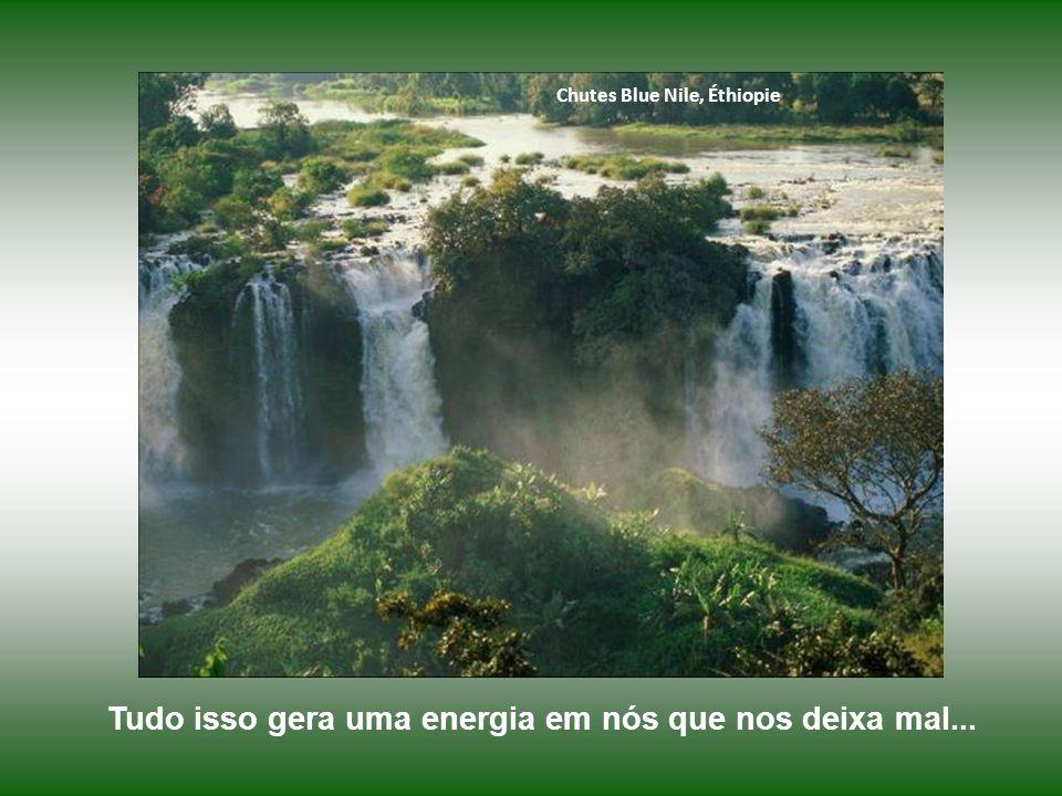 Chutes Blue Nile, Éthiopie Tudo isso gera uma energia em nós que nos deixa mal...