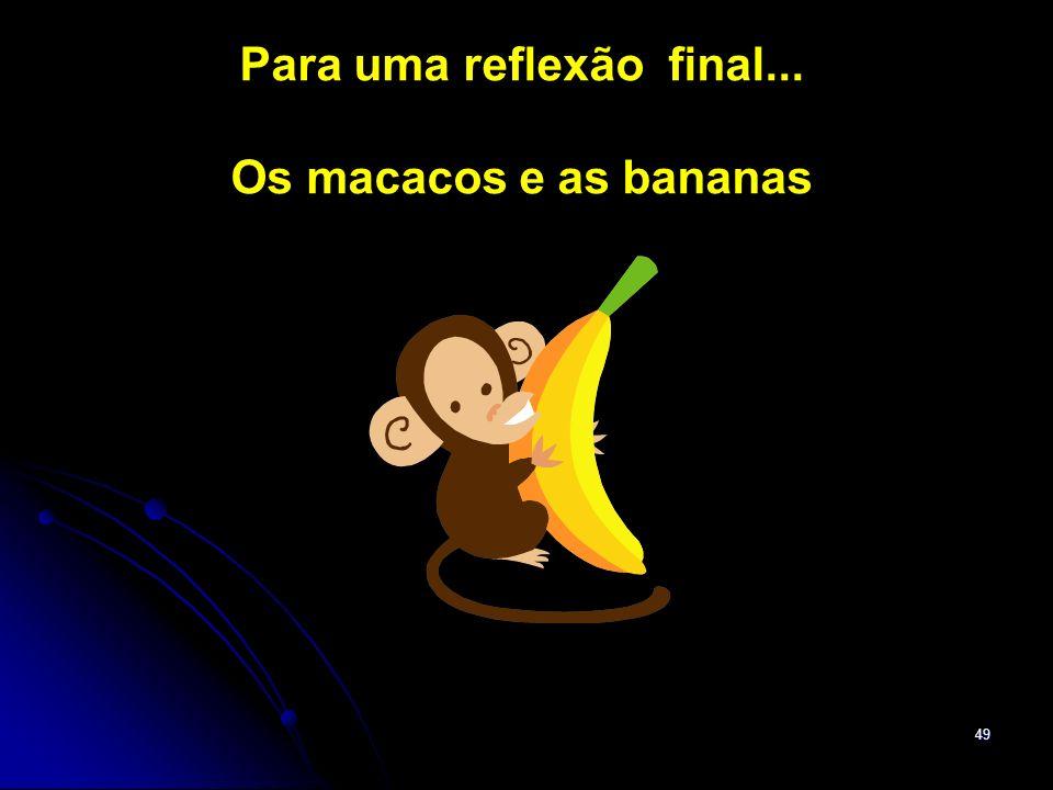 49 Para uma reflexão final... Os macacos e as bananas