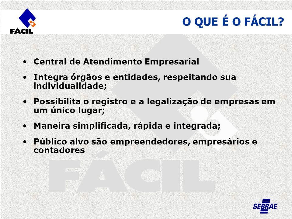 Central de Atendimento Empresarial Integra órgãos e entidades, respeitando sua individualidade; Possibilita o registro e a legalização de empresas em