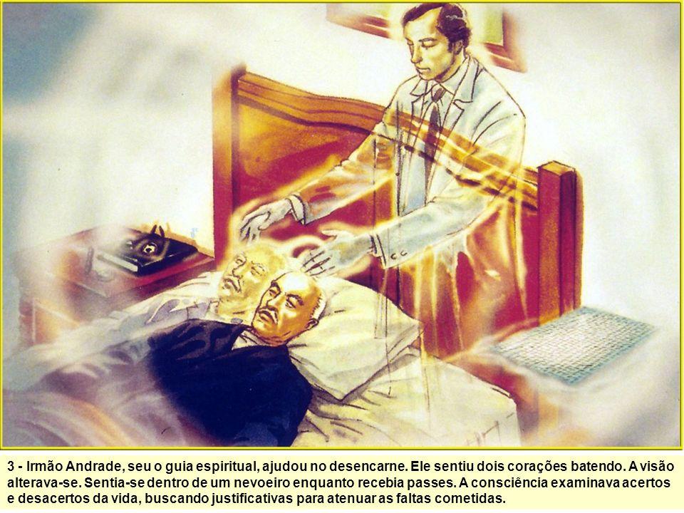 2 – Quando ainda doente, pediu para escrever sobre o que acontece após morte. Recebeu permissão, mas encontrou dificuldades fluídicas. Ofendeu-se quan