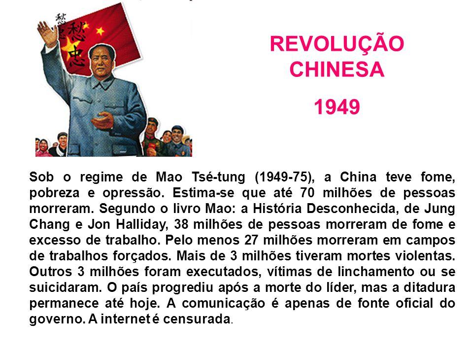 Sob o regime de Mao Tsé-tung (1949-75), a China teve fome, pobreza e opressão.