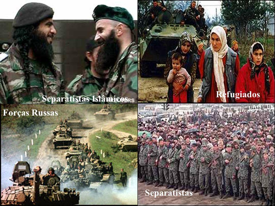 Separatismo Russo - Chechênia Separatistas Forças Russas Refugiados Separatistas Islâmicos