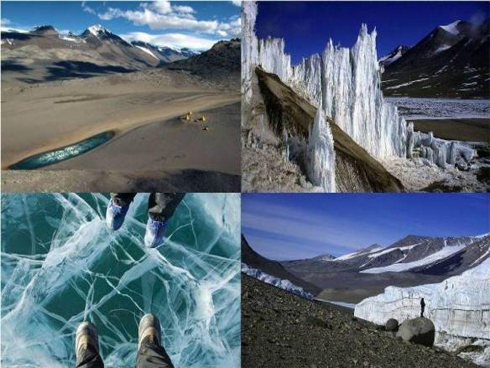 Vales Secos – Antártica A região Vales Secos da Antártica, de acordo com os cientistas, é a área na Terra mais parecida com o que seria uma paisagem d