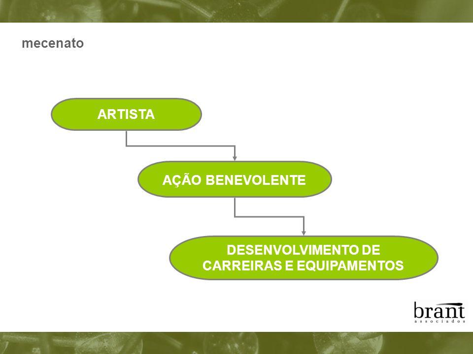 mecenato ARTISTA AÇÃO BENEVOLENTE DESENVOLVIMENTO DE CARREIRAS E EQUIPAMENTOS