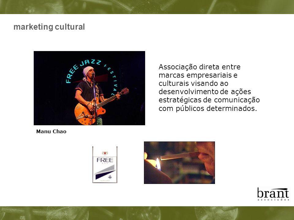 marketing cultural Associação direta entre marcas empresariais e culturais visando ao desenvolvimento de ações estratégicas de comunicação com público
