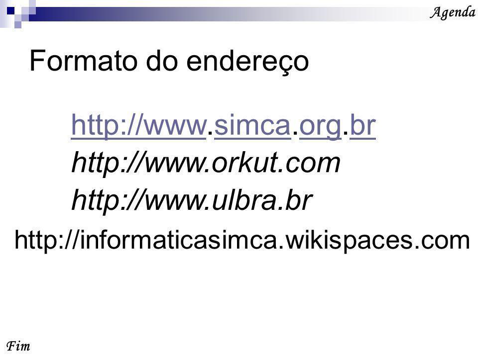 Link Fim Agenda São palavras ou frases ou imagens que fazem a ligação de uma página a outra no site.