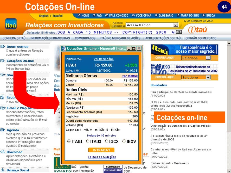44 Cotações On-line Cotações on-line