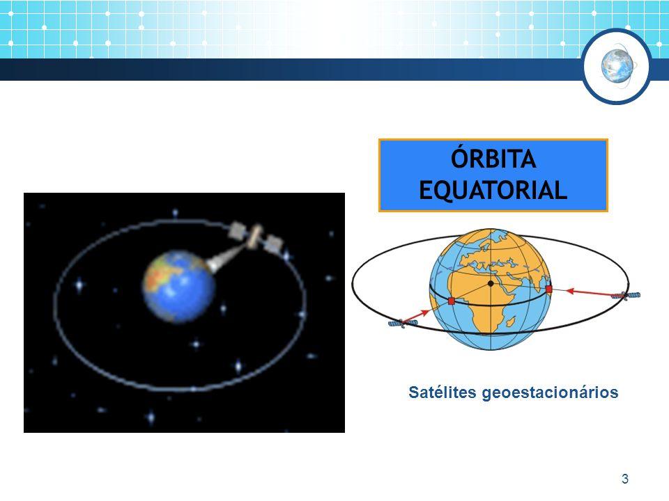 3 ÓRBITA EQUATORIAL Satélites geoestacionários