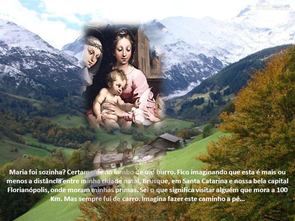 O primeiro a sentir esta alegria pela chegada do salvador, foi seu primo João Batista, ainda no ventre de sua mãe Isabel. A cena é belíssima. Maria fi