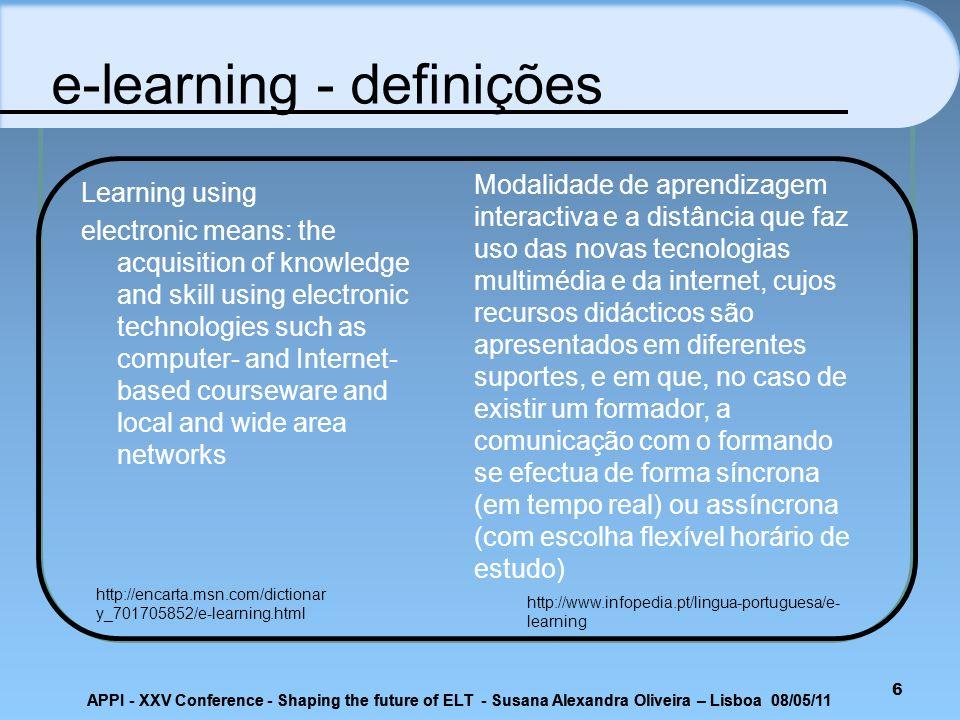 APPI - XXV Conference - Shaping the future of ELT - Susana Alexandra Oliveira – Lisboa 08/05/11 Podcasts 27