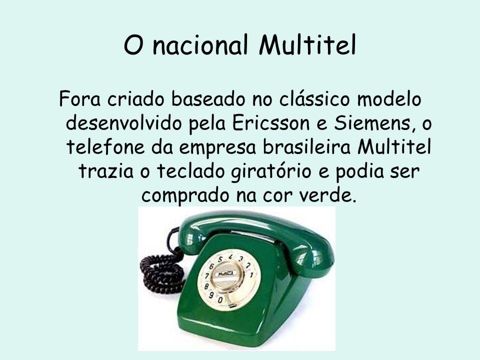 O nacional Multitel Fora criado baseado no clássico modelo desenvolvido pela Ericsson e Siemens, o telefone da empresa brasileira Multitel trazia o te