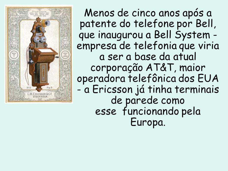 Telefone doméstico em 1892 Os primeiros aparelhos domésticos surgiram na década de 1890, ele possuia uma manivela que fornecia energia.