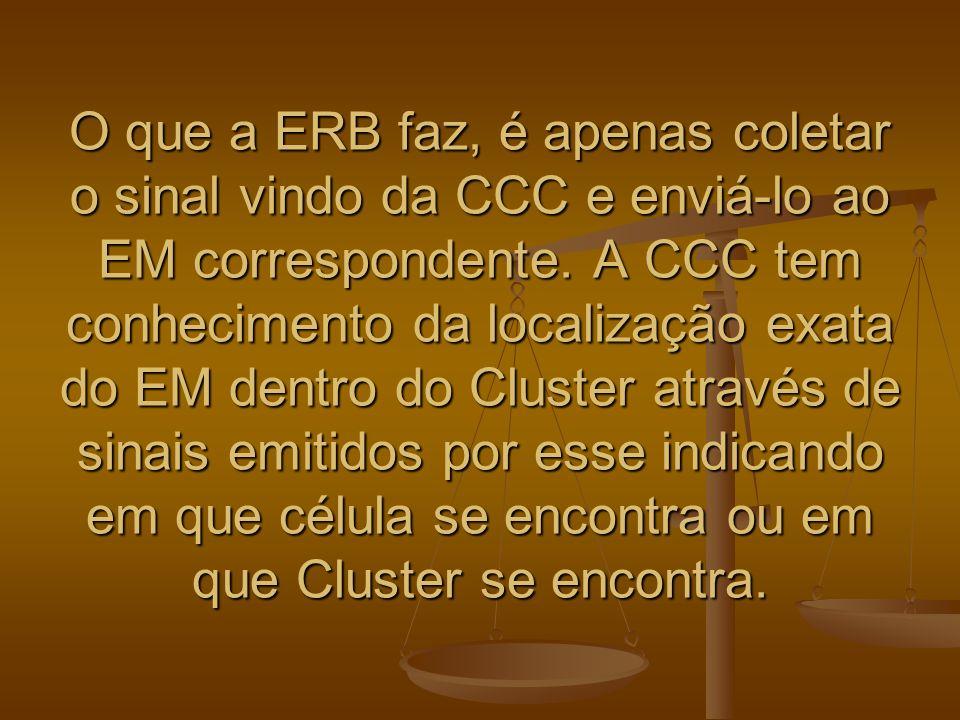 O que a ERB faz, é apenas coletar o sinal vindo da CCC e enviá-lo ao EM correspondente. A CCC tem conhecimento da localização exata do EM dentro do Cl
