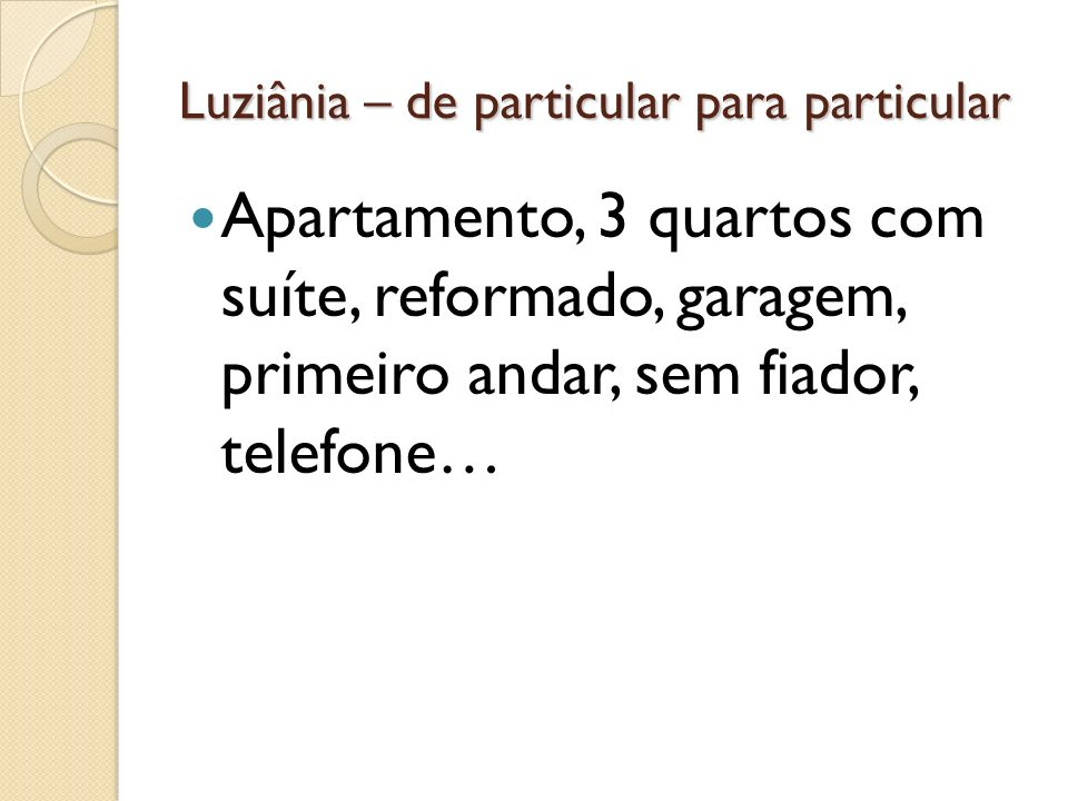 Luziânia – de particular para particular Apartamento, 3 quartos com suíte, reformado, garagem, primeiro andar, sem fiador, telefone…