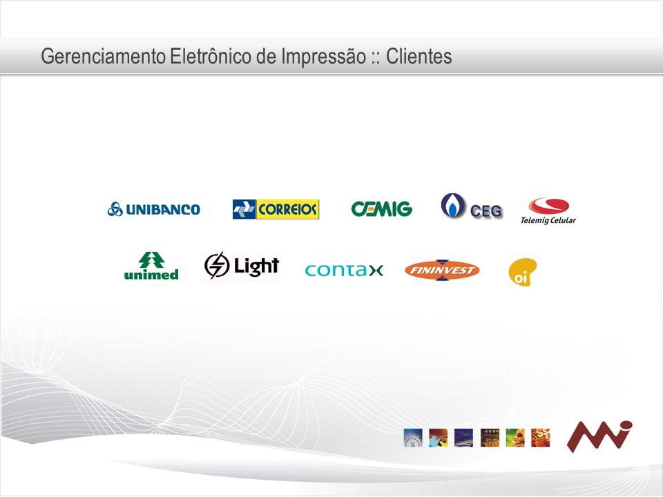 Gerenciamento Eletrônico de Impressão :: Clientes