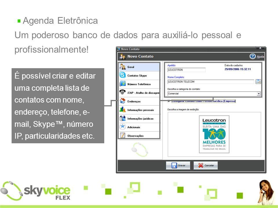 Agenda Eletrônica Um poderoso banco de dados para auxiliá-lo pessoal e profissionalmente.