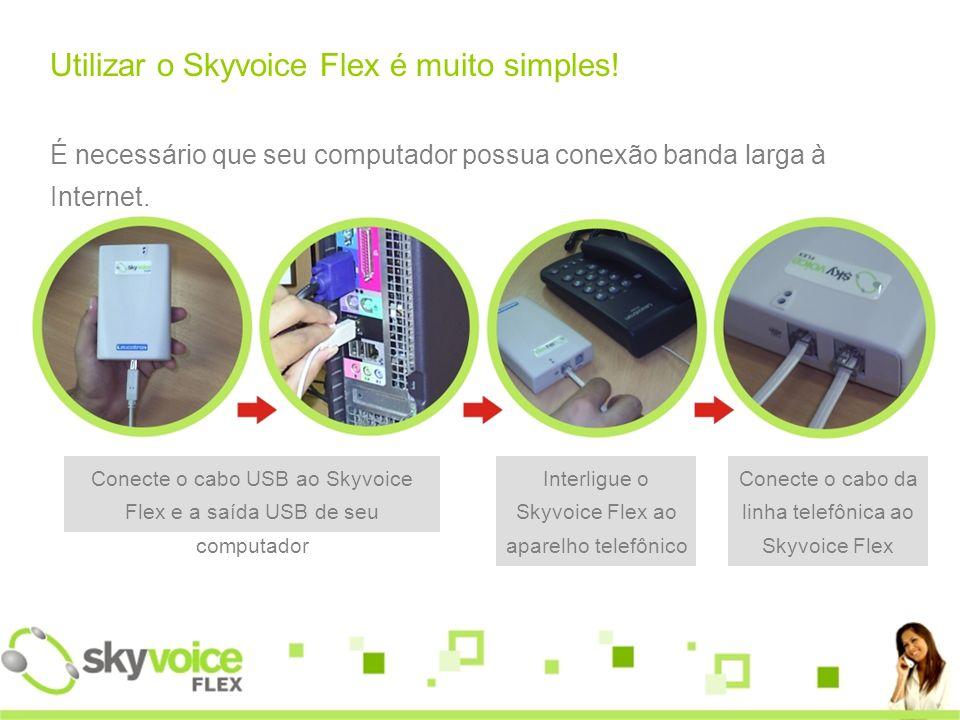 Utilizar o Skyvoice Flex é muito simples.