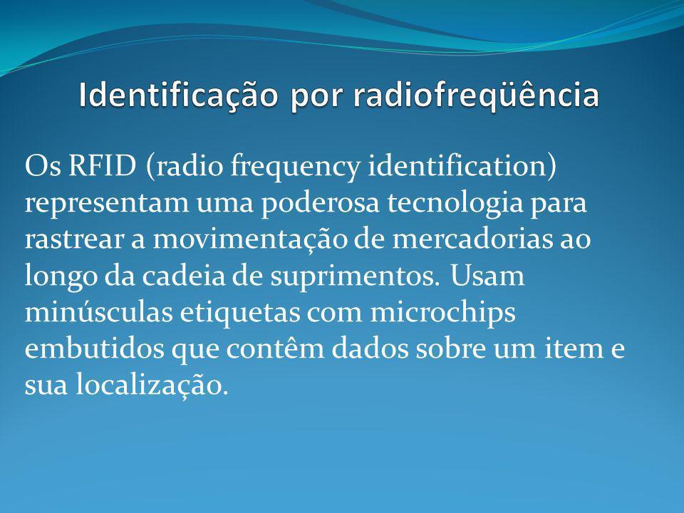 Os RFID (radio frequency identification) representam uma poderosa tecnologia para rastrear a movimentação de mercadorias ao longo da cadeia de suprimentos.