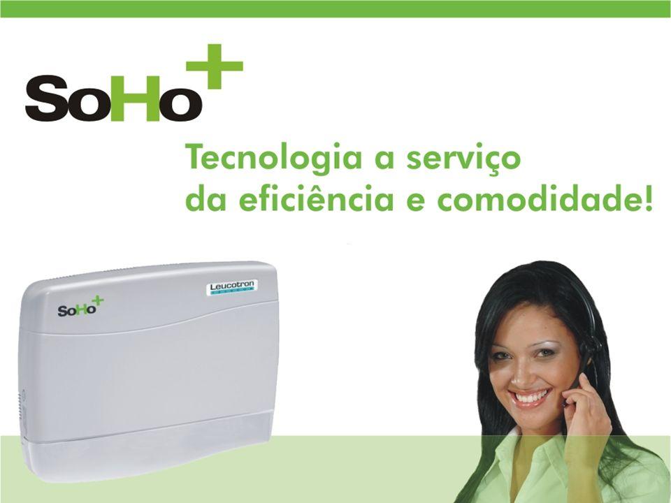 Ideal para residências, home offices e pequenas empresas, a central telefônica SoHo+ foi desenvolvida para facilitar operações telefônicas e garantir mais economia e qualidade em comunicação.