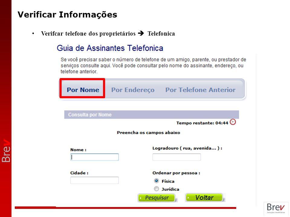 Bre v Verificar Informações Verifcar telefone dos proprietários Telefonica