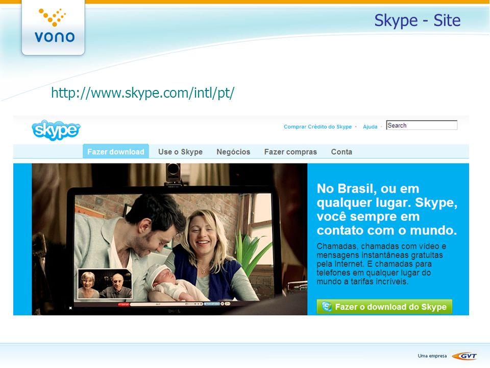 Skype - Site http://www.skype.com/intl/pt/