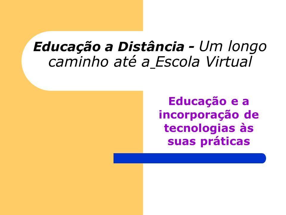 Educação a Distância - Um longo caminho até a Escola Virtual Educação e a incorporação de tecnologias às suas práticas