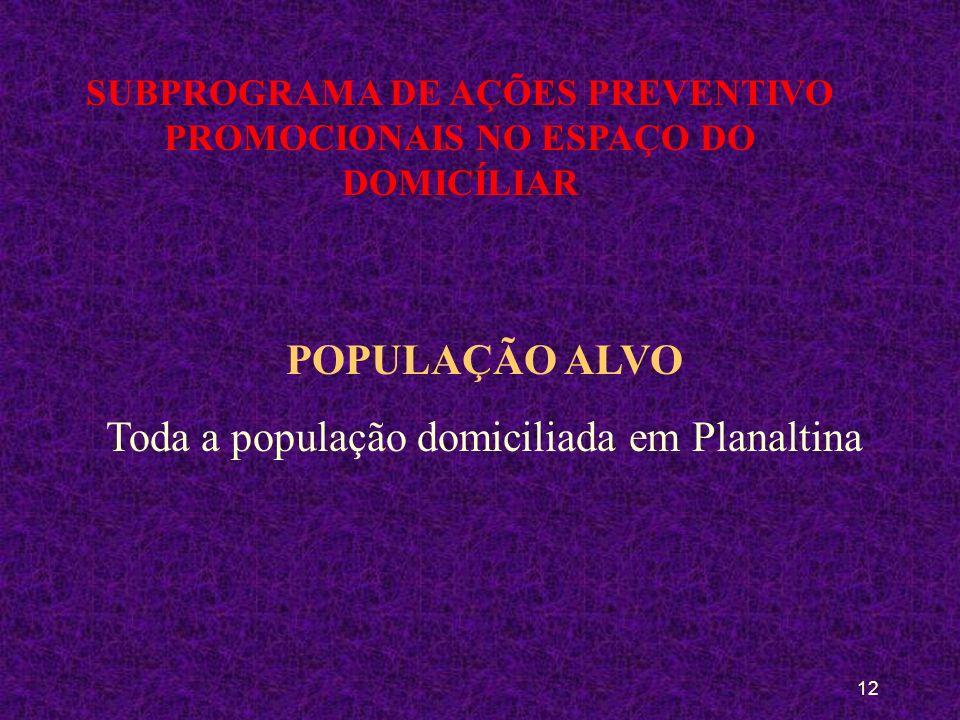 11 SUBPROGRAMA DE AÇÕES PREVENTIVO PROMOCIONAIS NO ESPAÇO DO DOMICÍLIAR OBJETIVOS Rotinizar as ações preventivo-promocionais com o acompanhamento perm