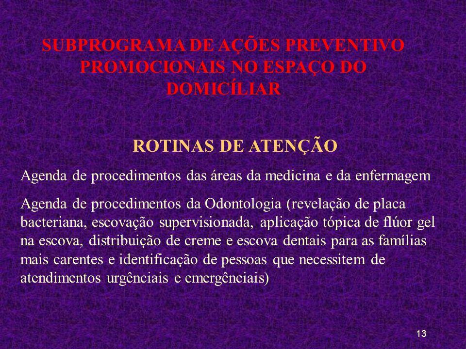 12 SUBPROGRAMA DE AÇÕES PREVENTIVO PROMOCIONAIS NO ESPAÇO DO DOMICÍLIAR POPULAÇÃO ALVO Toda a população domiciliada em Planaltina