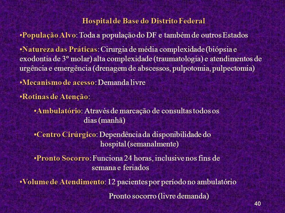 39 Referência e Contra-referência na Rede para Fora da Regional CENTRO RADIOLÓGICO DE TAGUATINGA - 354 4215 DESAT (RX - das 7:00 às 15:00) - 346 1012