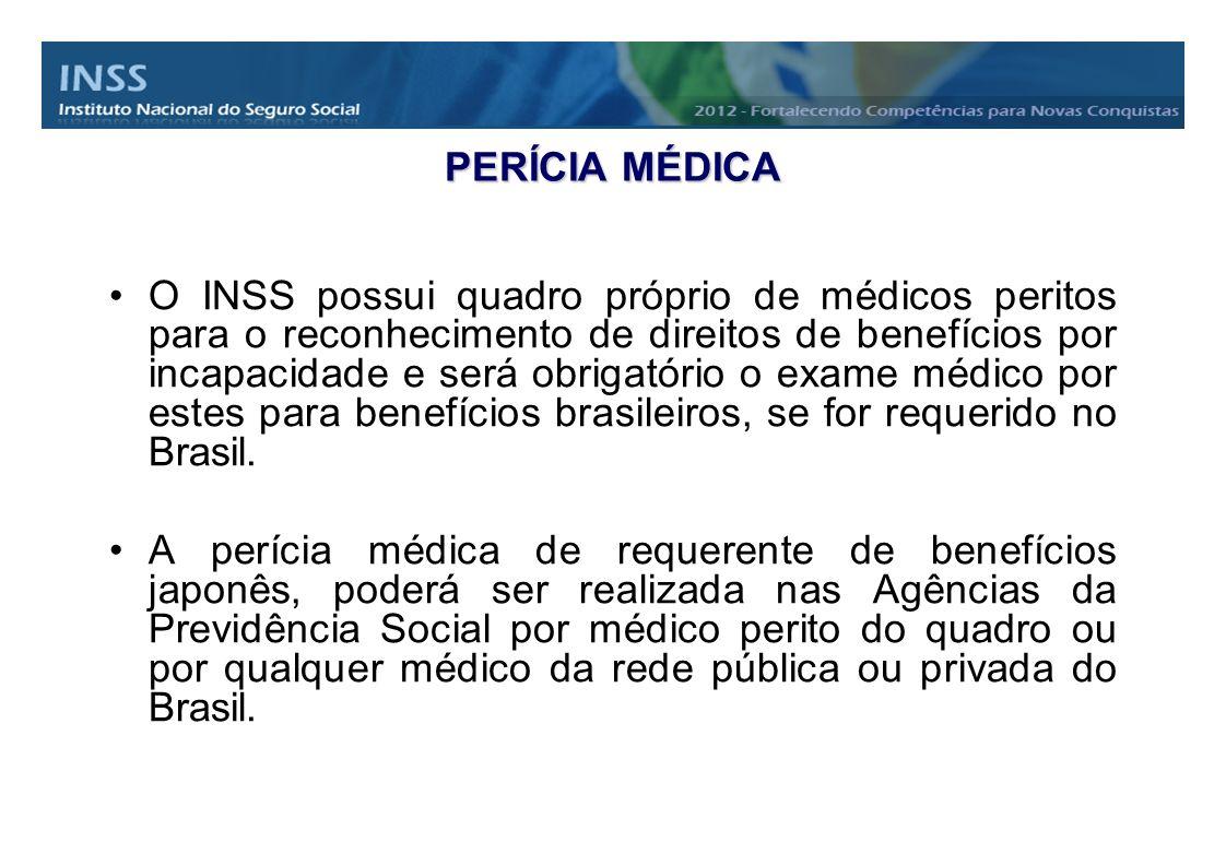 PERÍCIA MÉDICA O INSS possui quadro próprio de médicos peritos para o reconhecimento de direitos de benefícios por incapacidade e será obrigatório o e