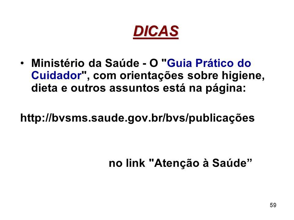 59 DICAS Ministério da Saúde - O